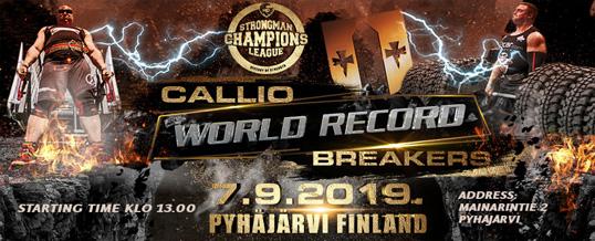 Strongman Champions League Callio World Record Breakers at Pyhäjärvi September 7, 2009