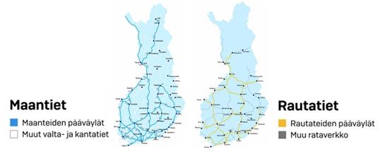 Pyhäjärvi maantie- ja rautatiepääväylän varrella